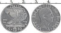 Изображение Монеты Италия 50 сентесим 1941 Медно-никель XF