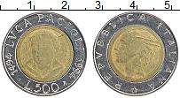Изображение Монеты Италия 500 лир 1994 Биметалл XF