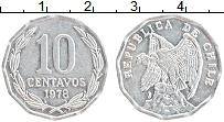 Изображение Монеты Чили 10 сентаво 1978 Алюминий UNC-