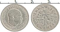 Изображение Монеты Сьерра-Леоне 5 центов 1964 Медно-никель XF