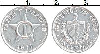 Изображение Монеты Куба 1 сентаво 1971 Алюминий UNC-