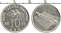 Изображение Монеты Малайзия 10 сен 2010 Медно-никель UNC-