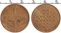 Изображение Монеты Португалия 1 эскудо 1975 Бронза XF