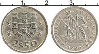 Изображение Монеты Португалия 2 1/2 эскудо 1980 Медно-никель XF