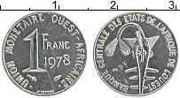 Изображение Монеты Западная Африка 1 франк 1978 Медно-никель UNC-