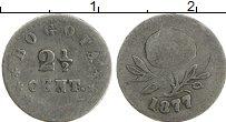 Изображение Монеты Колумбия 2 1/2 сентаво 1877 Серебро XF Богота