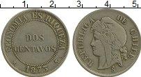 Изображение Монеты Чили 2 сентаво 1873 Медно-никель XF