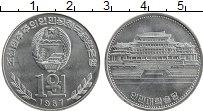 Изображение Монеты Северная Корея 1 вон 1987 Алюминий UNC- Библиотека