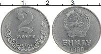 Изображение Монеты Монголия 2 мунгу 1980 Алюминий XF