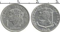 Изображение Монеты Филиппины 1 сентим 1974 Алюминий UNC- Лапулапу