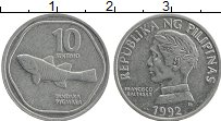 Изображение Монеты Филиппины 10 сентим 1992 Алюминий XF Франциско Балтасар