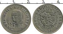 Изображение Монеты Филиппины 25 сентим 1982 Медно-никель XF Хуан Луна
