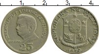 Изображение Монеты Филиппины 25 сентим 1972 Медно-никель XF Хуан Луна