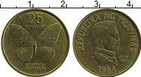 Изображение Монеты Филиппины 25 сентим 1984 Латунь XF