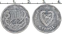 Изображение Монеты Кипр 5 центов 1981 Алюминий XF