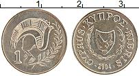 Изображение Монеты Кипр 1 цент 2004 Латунь UNC-
