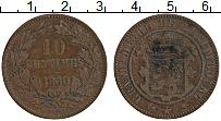 Изображение Монеты Люксембург 10 сантим 1860 Медь XF