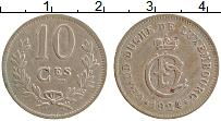 Изображение Монеты Люксембург 10 сантим 1924 Медно-никель XF