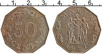 Изображение Монеты Мальта 50 центов 1972 Медно-никель XF