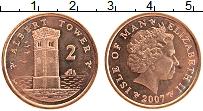 Изображение Монеты Остров Мэн 2 пенса 2007 Бронза UNC- Елизавета II.