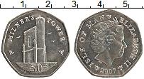 Изображение Монеты Остров Мэн 50 пенсов 2007 Медно-никель UNC-