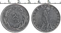 Изображение Монеты Турция 2 1/2 лиры 1973 Медно-никель XF