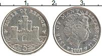 Изображение Монеты Остров Мэн 5 пенсов 2007 Медно-никель UNC- Елизавета II