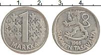 Изображение Монеты Финляндия 1 марка 1966 Серебро XF
