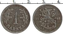 Изображение Монеты Финляндия 1 марка 1944 Железо XF