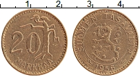 Изображение Монеты Финляндия 20 марок 1956 Латунь XF