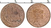 Изображение Монеты Франция 1 сантим 1916 Бронза XF