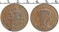 Изображение Монеты Франция 10 сантим 1911 Бронза XF