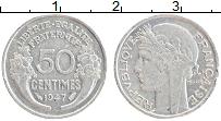 Изображение Монеты Франция 50 сантим 1947 Алюминий XF