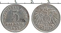 Изображение Монеты Германия 5 пфеннигов 1918 Железо XF