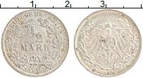 Изображение Монеты Германия 1/2 марки 1915 Серебро XF F