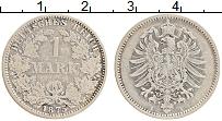 Изображение Монеты Германия 1 марка 1875 Серебро XF A