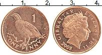 Изображение Монеты Гибралтар 1 пенни 2003 Бронза UNC- Елизавета II.