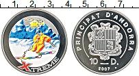 Изображение Монеты Андорра 10 динерс 2007 Серебро Proof- Экстрим. Слалом