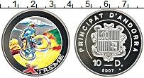 Изображение Монеты Андорра 10 динерс 2007 Серебро Proof- Экстрим. Велоспорт