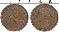 Изображение Монеты Остров Мэн 1/2 пенни 1839 Медь XF-