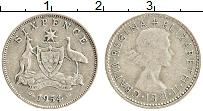 Изображение Монеты Австралия 6 пенсов 1954 Серебро XF