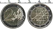 Изображение Мелочь Финляндия 2 евро 2020 Биметалл UNC
