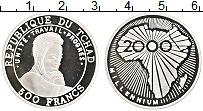 Продать Монеты Чад 500 франков 2000 Серебро