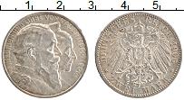 Изображение Монеты Баден 2 марки 1906 Серебро XF+ Золотая свадьба Фрид