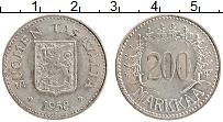 Изображение Монеты Финляндия 200 марок 1958 Серебро XF