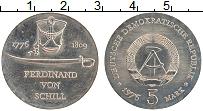 Изображение Монеты ГДР 5 марок 1976 Медно-никель UNC- Фердинанд фон Шилл