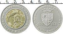Изображение Монеты Андорра 20 динерс 1996 Серебро UNC