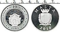 Изображение Монеты Мальта 10 евро 2010 Серебро Proof- Культурное наследие