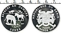 Изображение Монеты Бенин 1000 франков 2001 Серебро Proof