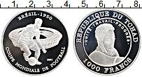 Продать Монеты Чад 1000 франков 2001 Серебро